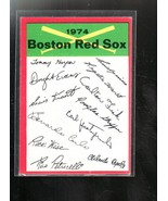 1974 TOPPS BASEBALL BOSTON RED SOX TEAM CHECKLIST CLEAN  EX++/NM+ NICE - $3.78