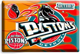 Detroit Pistons Basketball Team Triple Light Switch Wall Plate Man Cave Room Art - $18.99