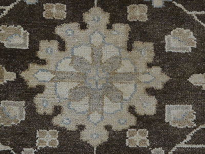 10 X 14 Hand Knotted Brown Oushak Oriental Rug Vegetable Dyes G330