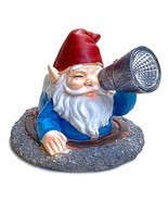 Garden Gnome Solar Powered LED Statue Light Sculpture Lawn Yard Patio Ho... - $17.86