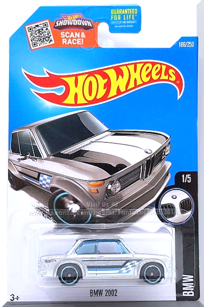 Hot Wheels - BMW 2002: BMW #1/5 - #186/250 (2016) *ZAMAC Edition / Walmart* for sale  USA