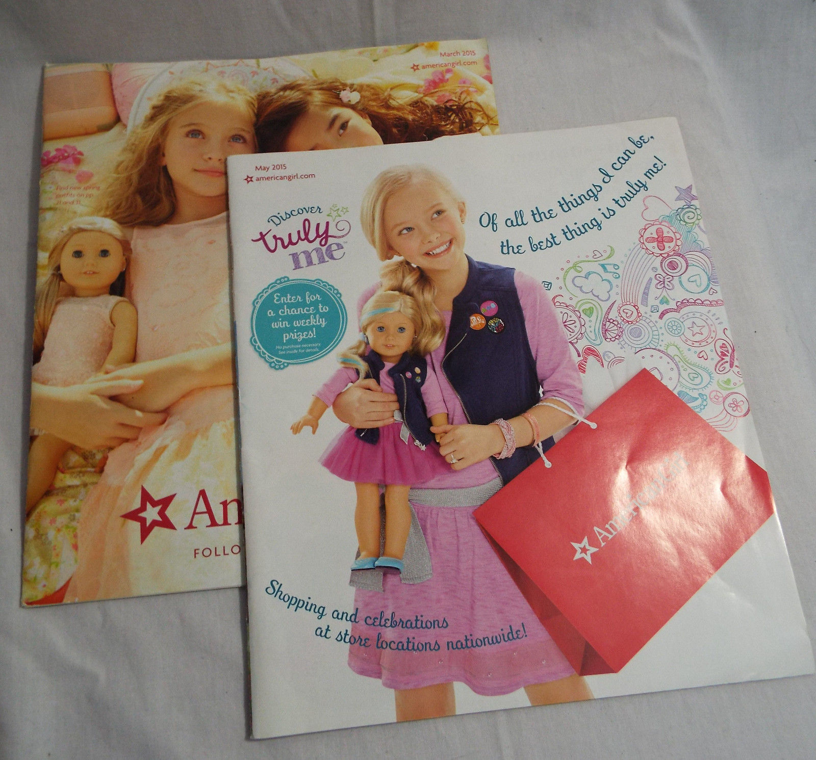 American girl catalog 2 issues march may 2015 for American furniture catalog 2015