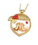 Disney Store Japan Jewel Chip & Dale Glittery Acorn Necklace Kawaii Lolita Tokyo - $39.90