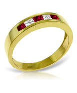 Brand New 0.63 Carat 14K Solid Gold Rings Natural Ruby White Topaz - $340.35