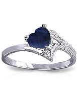 Brand New 1 Carat 14K Solid White Gold Not An Explanation Sapphire Ring - $304.77