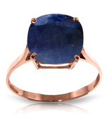 Brand New 4.83 Carat 14K Solid Rose Gold Ring Natural Cushion Sapphire - $383.21