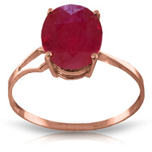 Brand New 3.5 CTW 14K Solid Rose Gold Opulence Ruby Ring - $282.55