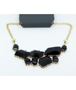 Various Sizes Black Faceted Diamond Bib Necklace - £7.40 GBP