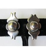 Vintage Sterling Silver Screwback Earrings - $18.00