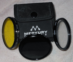 Vivitar  + Merkury Optics 58mm Filters  (3) + Case - $8.99