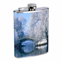 Flask 8oz Stainless Steel Winter Design-003 Drinking Whiskey - $12.82