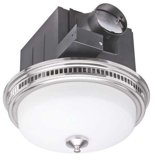 Bath exhaust fan with light combo vent ventilation air - Bathroom ceiling fan light combo ...