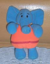"Disney JoJo's Circus Plush Dinky 6"" Poseable Blue Elephant Take-Me-Along... - $5.95"