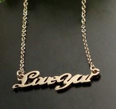 "18K RGP ""Loveyou"" Pendant Alloy Necklace(Gold) - £7.44 GBP"