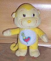 """CARE BEARS Yellow Cousin Playful Heart Monkey 7"""" Plush- Factory Toy Show... - $5.95"""