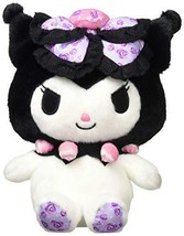 Sanrio Kuromi Rose Ribbon Plush Doll S Limited Japan - $51.41