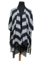 Navy Blue & White Striped Design Chiffon Tassel... - $13.00
