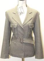 Trafaluc By Zara Winter Collection Women Safari Jacket Coat Taupe Sz 10 W Belt - $46.74