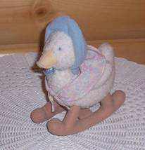 Beatrix Potter Frederick Warne Eden Toys Plush Rocking Jemima Puddle-Duck - $10.95