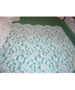 15 Inches Wide White Lace Trim Fabric Vintage Décor - $1.99