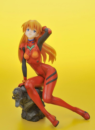 Evangelion 2.0 Asuka in Plug-In Suit Ani Statue Figure Brand NEW!