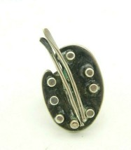 BETTINA Sterling Silver Marked Modernist Artist Palette Ring Vintage 11g - $49.49