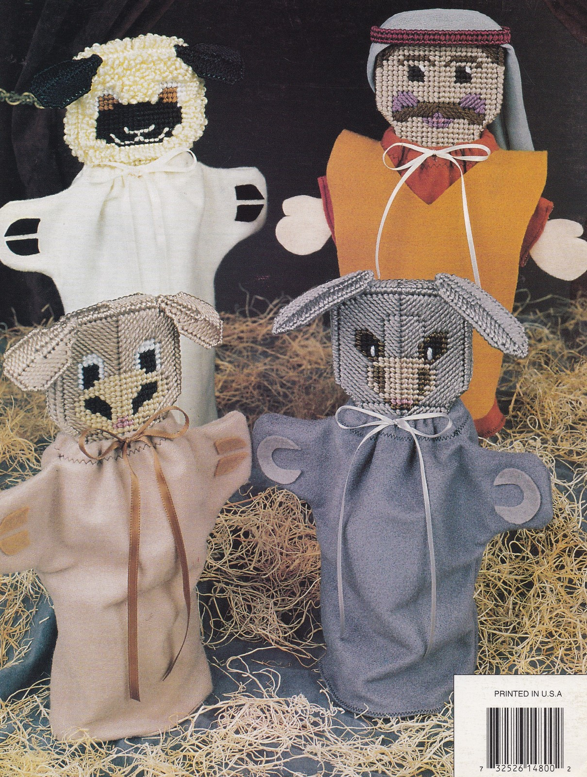 Nativity Hand Puppets, Annie's Christmas Plastic Canvas Pattern 87N80 Jesus Mary