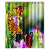 Cute Butterfly #02 Shower Curtain Waterproof Made From Polyester - $29.07+