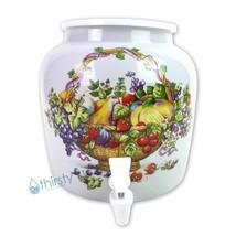 Porcelain Water Crock Fruit Basket Ceramic Pot Dispenser Spigot Faucet J... - $42.05