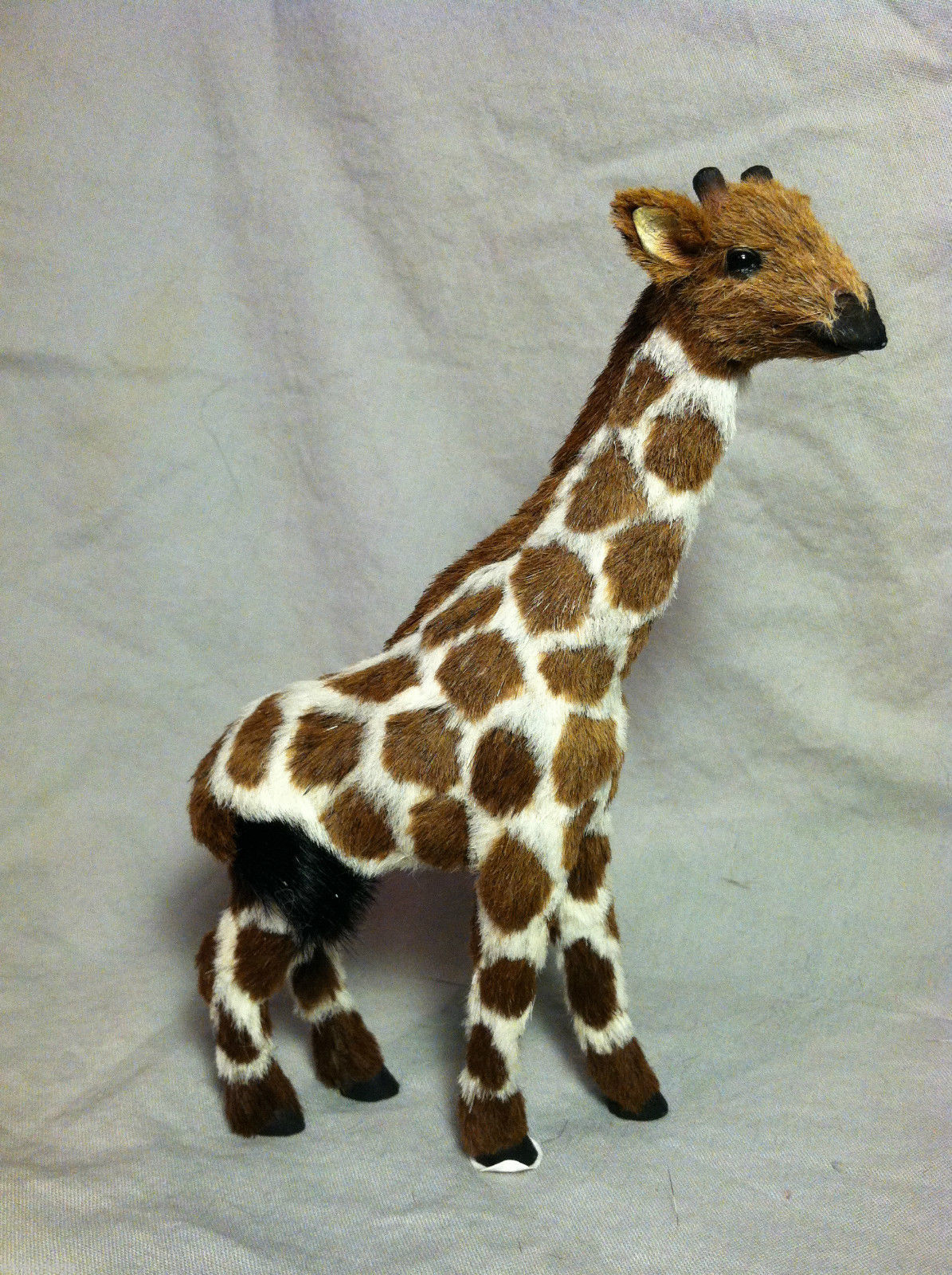 Jungle Safari Giraffe Animal Figurine - recycled rabbit fur