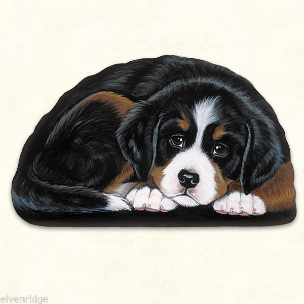 Small Bernese Mountain Dog puppy pupperweight paperweight USA made