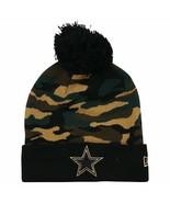 DALLAS COWBOYS Knit Beanie Hat Ski Cap CAMO COLORS CUFFED TOQUE BY NEW E... - $17.49