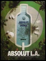 Absolut L.A. Los Angeles Pool 1994 Photo Ad Absolut Vodka - $14.99