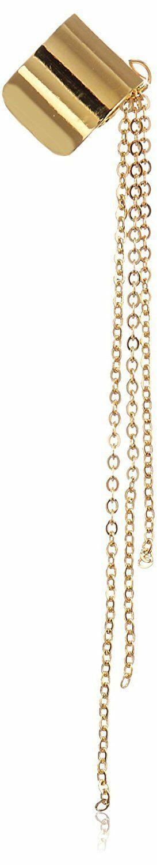 ECRU metal Gold Chain Fringe Ear Cuff Earring