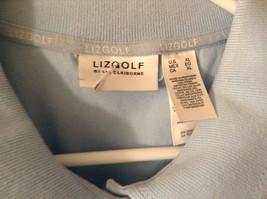 LizGolf Women's Size XL Polo Shirt Short Sleeves Cotton Blend Powder Baby Blue image 2