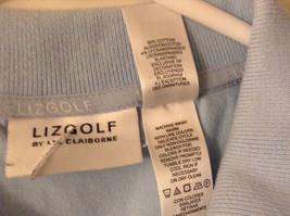 LizGolf Women's Size XL Polo Shirt Short Sleeves Cotton Blend Powder Baby Blue image 3