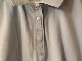 LizGolf Women's Size XL Polo Shirt Short Sleeves Cotton Blend Powder Baby Blue image 4