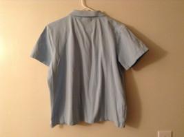 LizGolf Women's Size XL Polo Shirt Short Sleeves Cotton Blend Powder Baby Blue image 6