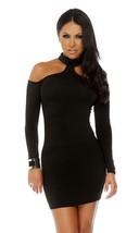 Forplay Upscale Long Sleeve Mock Cold Shoulder Mini Dress ~ Black, Red o... - $24.99