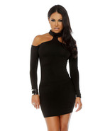 Forplay Upscale Long Sleeve Mock Cold Shoulder Mini Dress ~ Black, Red o... - $31.99