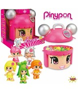Pinypon Mix & Match Neon Party Container 5 Figures Exclusive Edition Lim... - $264.26