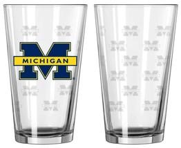 Michigan Wolverines Satin Etch Pint Glass Set - $30.98