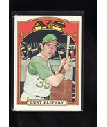 1972 TOPPS BASEBALL CARD#691 CURT BLEFARY  EXNM- A'S STAR - $4.00