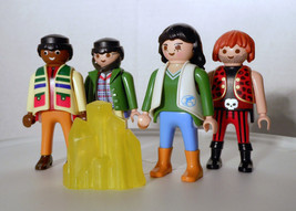 Lot 4 Playmobil Geobra People Men Woman 2002 2004 Pirate Doctor Dolphin ... - $3.19