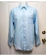 Vintage 16 34/35 Sears Perma-Prest Mens Blue Dress Casual Straight Colla... - $8.99