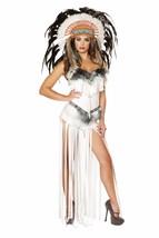 Roma Native American Indian Cherokee Mistress White Fringe Romper Costum... - $99.99