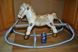 Rocking Hobby Horse Vtg Small Child's Cowboy Cowgirl Wonder Pony-Bouncing - $156.31