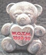 Vintage Women of The Moose (WOTM) 1997-98 Pewter Bear Lapel Pin - $9.95