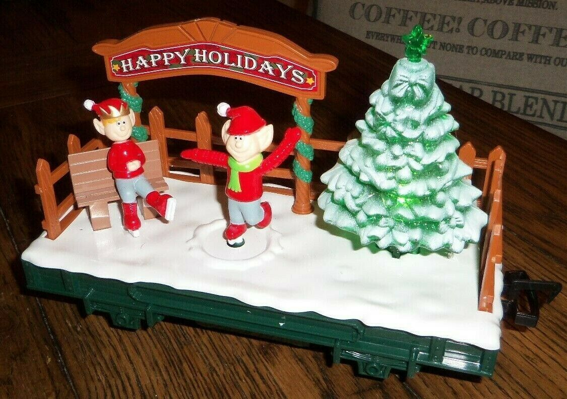 Primary image for Light Up Skating Car from North Pole Express Christmas Train Set EZTEC 37297