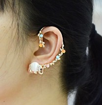 18K RGP Cute Opal Elephant Ear Cuff for Women - $15.99